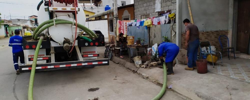 LIMPIEZA DE ALCANTARILLAS CON EL HIDROCLEAN EN CADA UNO DE LOS BARRIOS DE LA PARROQUIA