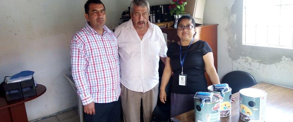 SE REALIZO LA ENTREGA DE GALONES DE PINTURA A LA TENENCIA POLITICA DE LA IBERIA